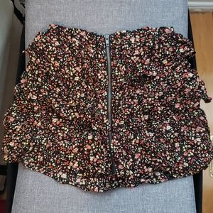 Floral layered skirt